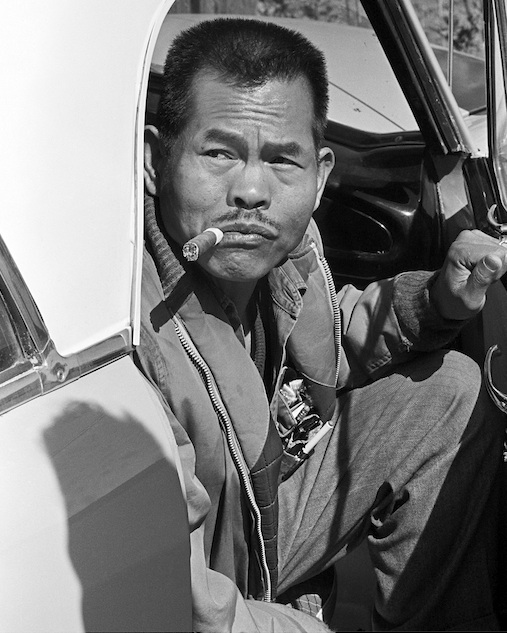 Larry Itliong. Photograph by George Balis copyright Image Works